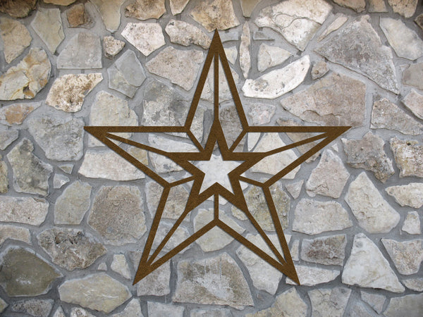 Wall Hanging Metal Star for Indoor or Outdoor Use - Sam's Metal Works - 2