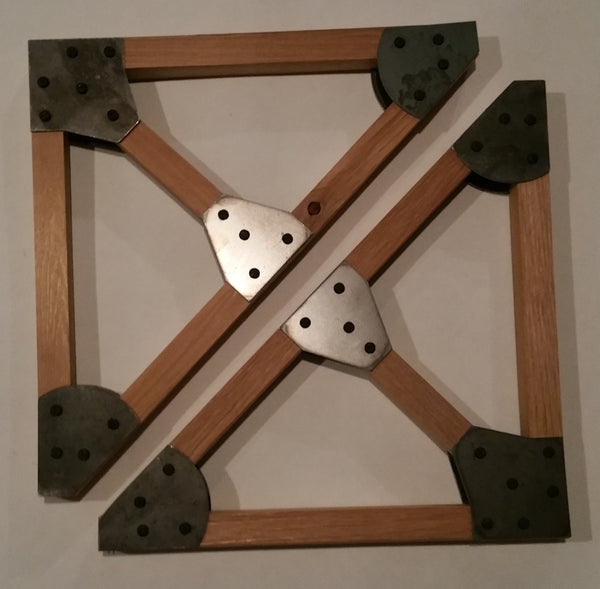 Handcrafted Wood Truss Shelf Bracket Set with Steel Gussets - Sam's Metal Works - 4