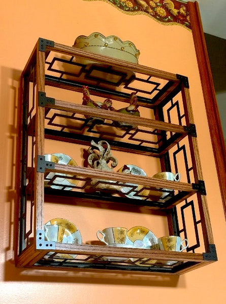 Handcrafted Oak Framed Display Shelf - Sam's Metal Works - 2