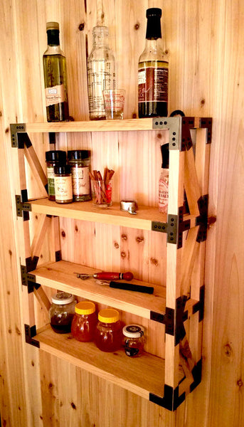 Handcrafted Wood Truss Display Shelf With Steel Gusset Plates - Sam's Metal Works - 3