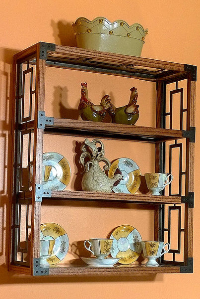 Handcrafted Oak Framed Display Shelf - Sam's Metal Works - 1
