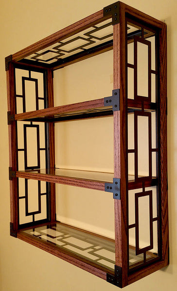 Handcrafted Oak Framed Display Shelf - Sam's Metal Works - 4