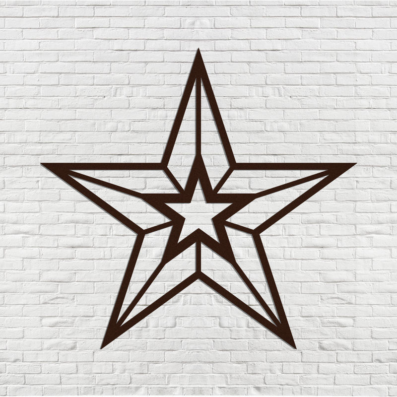 Wall Hanging Metal Star for Indoor or Outdoor Use - Sam's Metal Works - 1