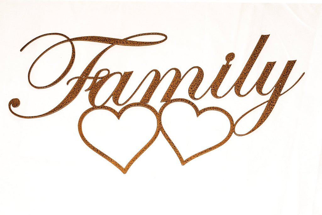 Family Wall Sign Part - 36: Handmade Wall Hanging Metal Family Sign With Hearts, Multiple Colors, Wall  Decor, Metal