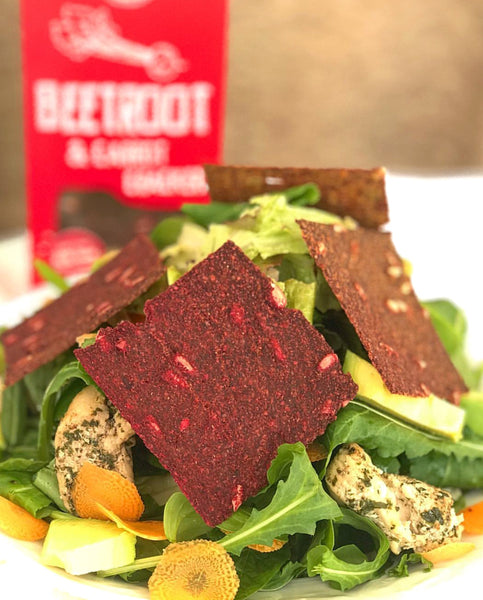 Biolicious Dehydrated Organic Raw Vegetable Crackers: Beetroot & Carrot 104g