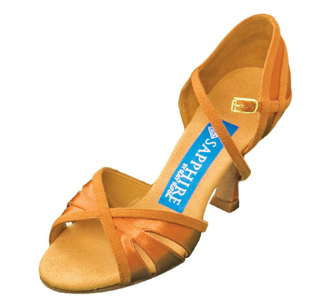 Moonshine | L. Tan Satin & Tan Suede - Shop4Dancer