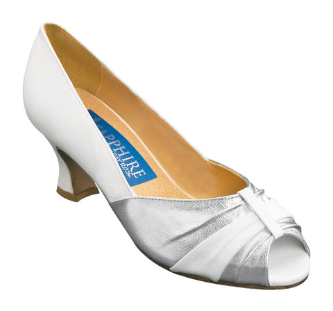 Rose | Silver Leather/White Leather - Shop4Dancer