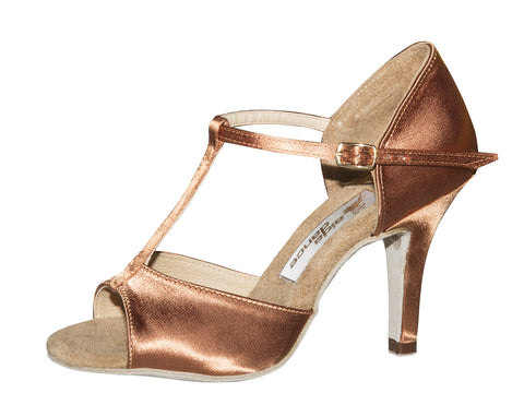 010T Boriana  | Tan Satin - Shop4Dancer