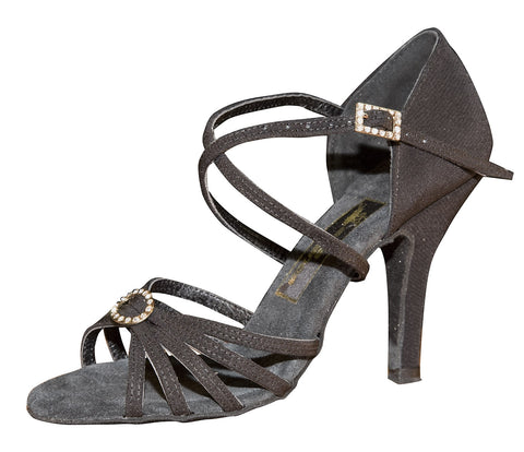 082E Elvira   | Black Crepe Satin - Shop4Dancer