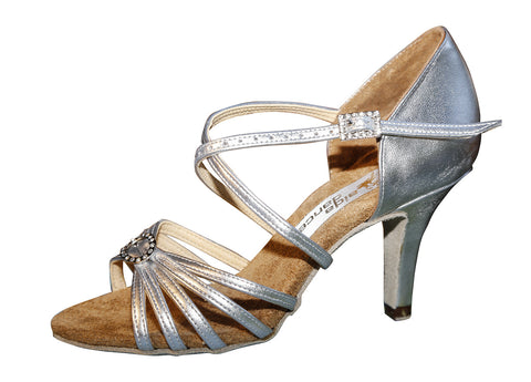 082E Elvira   | Silver Leather - Shop4Dancer