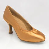 "108A ION - Flesh Satin - 2.5"" Flared Heel - Shop4Dancer"