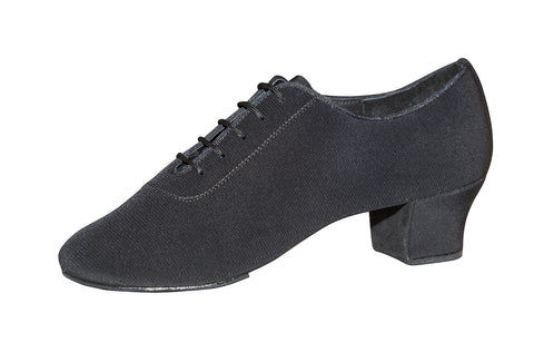 131T Tornsberg  |  Black  Crepe Satin | 4cm Alan Heel | Size 24.5cm - Shop4Dancer