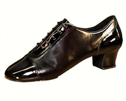 135T - SOURKOV - Black Leather Patent in 4.5cm Heel - Shop4Dancer
