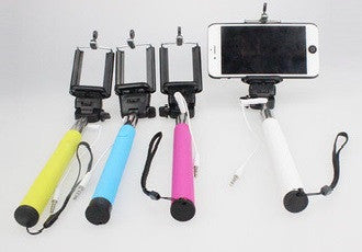 Mini Wired foldable Selfie Stick with Press Button - Shop4Dancer