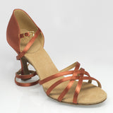 "835 Monsoon | Dark Tan Satin | 3"" Flared - Shop4Dancer"
