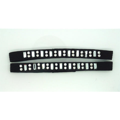 Black Shoe Strap with sequin