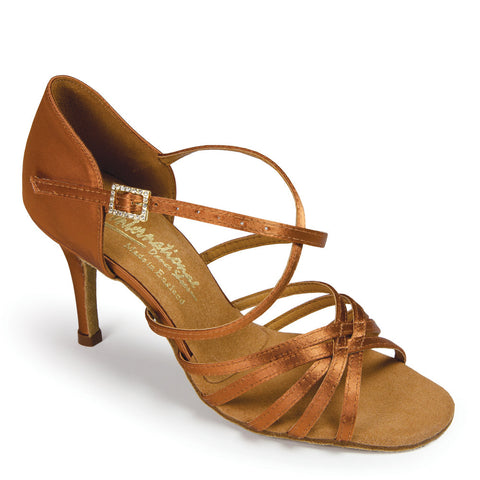 FLAVIA - TAN SATIN - Shop4Dancer