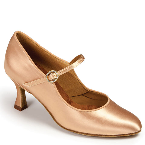 "ICS CLASSIC - FLESH SATIN - 7UK - 1.5"" Heel - Shop4Dancer"