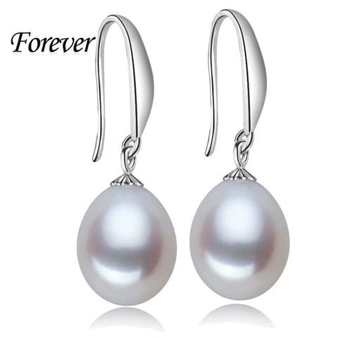 Freshwater Sterling Earrings Natural real Pearl Earring WHITE - Shop4Dancer