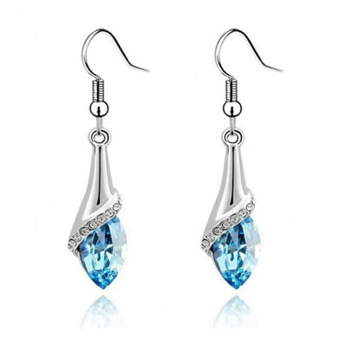 Silver Jewelry Crystal Dangle Earrings for Women Fashion Rhinestone Earrings - Shop4Dancer