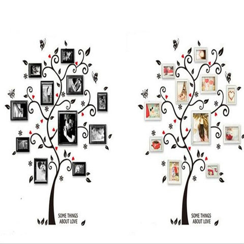 Black Tree photo frame DIY 3D vinyl wall stickers Removable wall ...
