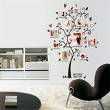 Black Tree photo frame DIY 3D vinyl wall stickers Removable wall Sticker Design living room home decoration - Shop4Dancer