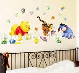 Pooh tree Animal Cartoon Vinyl Wall stickers for kids rooms Home decor DIY Child Wallpaper Art Decals 3D Design House Decoration - Shop4Dancer