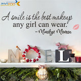 A smile is the best makeup home decor creative wall removable vinyl wall stickers - Shop4Dancer