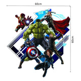 3d Cartoon Super Hero Avengers Vinyl Wall Stickers For Kids Rooms - Shop4Dancer