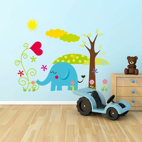 ... Cartoon Animal Forest Wall Stickers Decals For Nursery And Kids Room  Home Decor 3d Wall Stickers