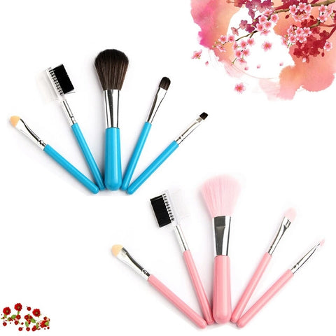 5PCS/Set Professional Cosmetic Makeup Brushes Set / Styling Tools Accessories Foundation Beauty Make up Toiletry Kit - Shop4Dancer