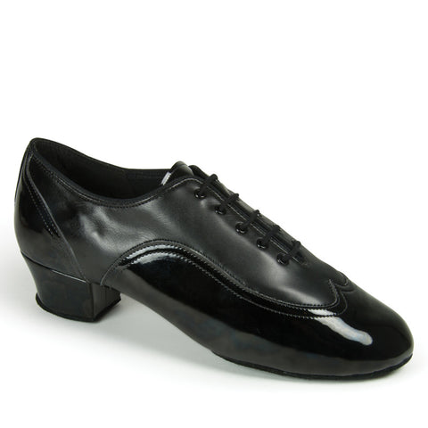 JONES - BLACK CALF/BLACK PATENT - Shop4Dancer