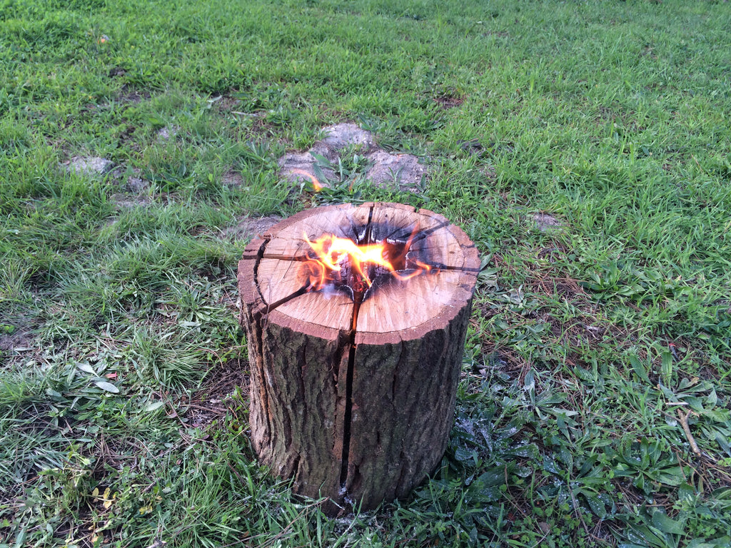 This Brilliant Camping Hack Makes A Campfire That Lasts Hours With Just One Log