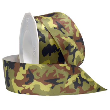 #058 Camo Double Face Satin Ribbon - ifloral.com