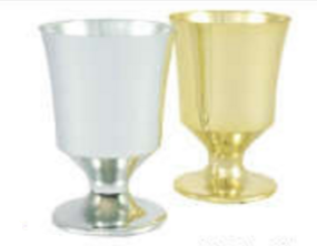 Small Cup, Silver (Pack of 36) - ifloral.com