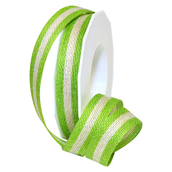 #1209 Jute Stripe Ribbon - ifloral.com