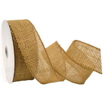 #1252 Burlap (wired) Ribbon - ifloral.com