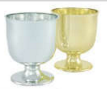 Goblet, Silver (Pack of 36) - ifloral.com