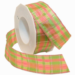 #150 Festive Plaid (wired) Ribbon - ifloral.com