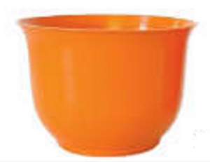 Small Spun Planter, Orange (Pack of 18) - ifloral.com