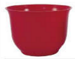 Small Spun Planter, Red (Pack of 18) - ifloral.com