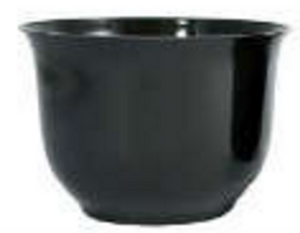 Large Spun Planter, Black (Pack of 12) - ifloral.com