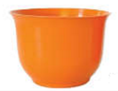 Large Spun Planter, Orange (Pack of 12) - ifloral.com