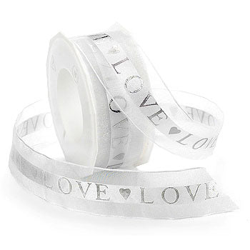 #3384 Love (sheer) Ribbon - ifloral.com