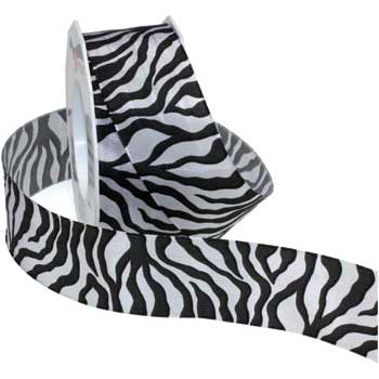 #340 Zebra (wired) Ribbon - ifloral.com