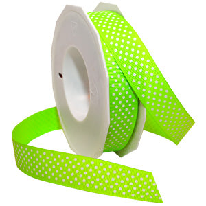 #3967 Neon Swiss Dot Ribbon - ifloral.com