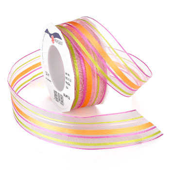 #569 Tropical Sheer (wired) Ribbon - ifloral.com