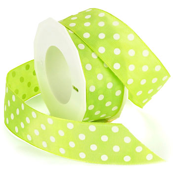 #6612 Polka Dots (wired) Ribbon - ifloral.com