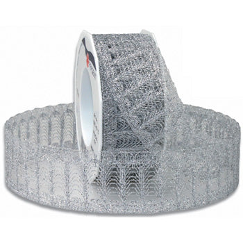 #665 Antibes Metallic Lace Ribbon - ifloral.com