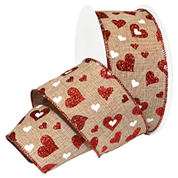 #7105 Valentine (wired) Ribbon - ifloral.com